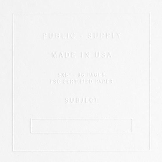 "5 x 8"" Embossed Cover Dot Grid or Ruled Notebook White"