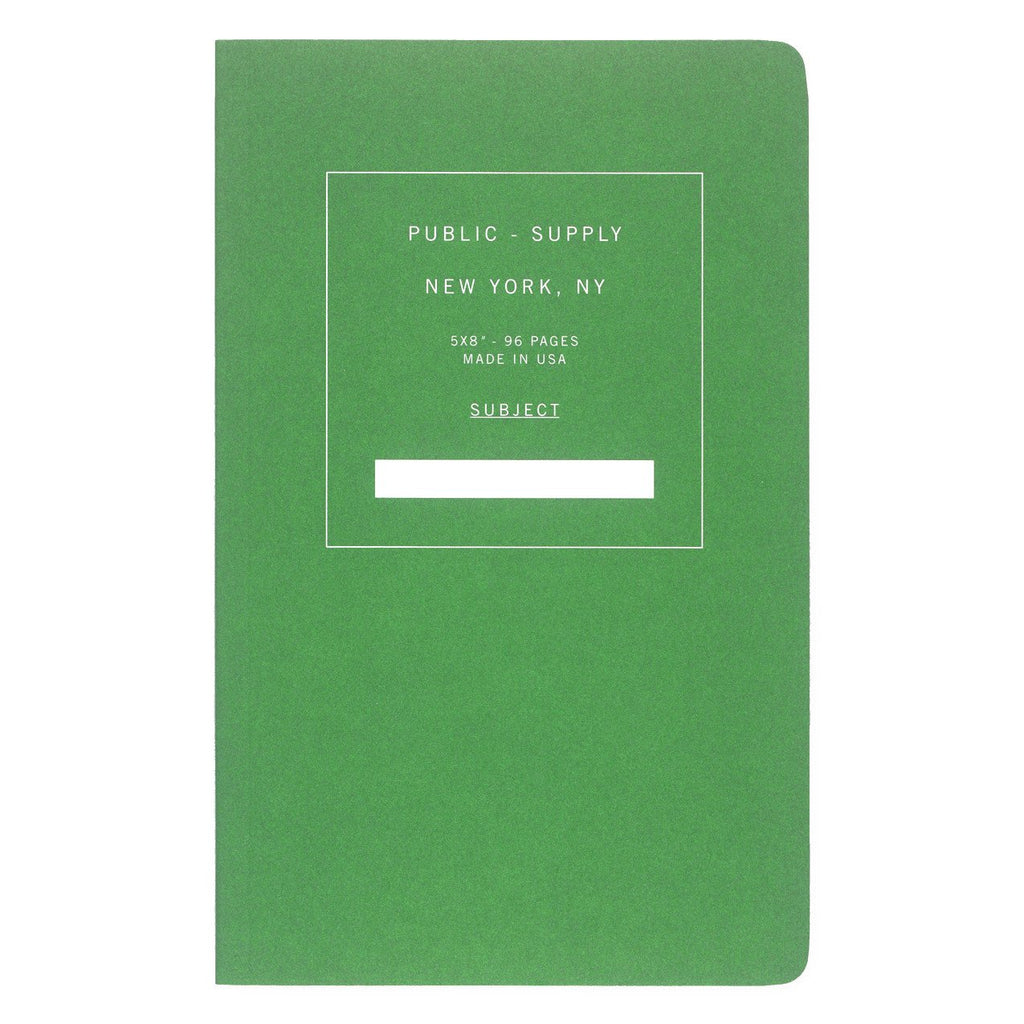 "5 x 8"" Dot Grid or Ruled Notebook Green 02 - GREER Chicago Online Stationery"