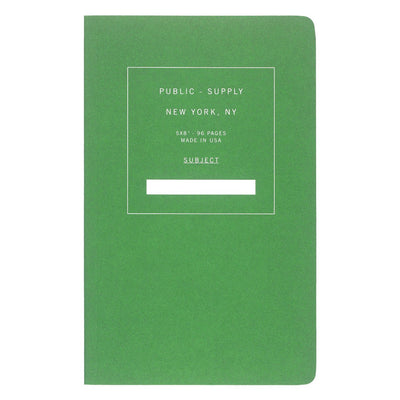 "Public - Supply 5 x 8"" Dot Grid or Ruled Notebook Green 02 - GREER Chicago Online Stationery Shop"