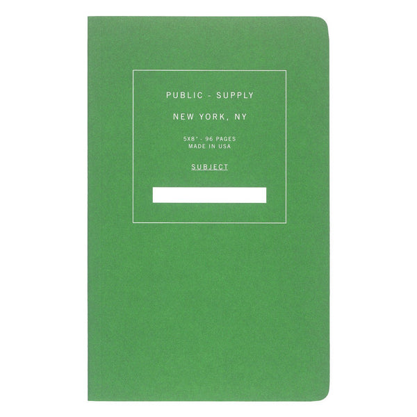 "5 x 8"" Dot Grid or Ruled Notebook Green 02 By Public - Supply - 1"