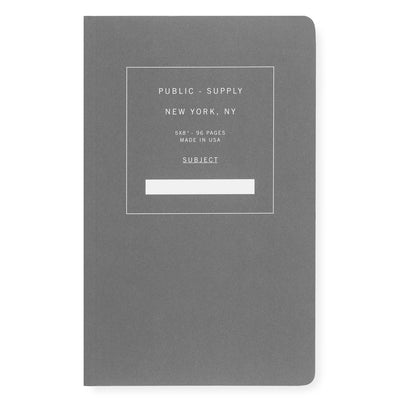 "Public - Supply 5 x 8"" Dot Grid or Ruled Notebook Black 02 - GREER Chicago Online Stationery Shop"