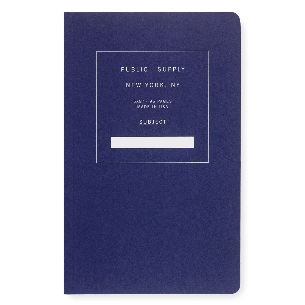 "5 x 8"" Dot Grid or Ruled Notebook Blue 01 - GREER Chicago Online Stationery"