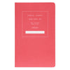 "Public - Supply 5 x 8"" Dot Grid or Ruled Notebook Red 03 - GREER Chicago Online Stationery Shop"
