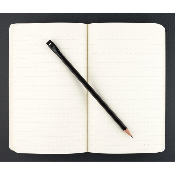 "5 x 8"" Dot Grid or Ruled Notebook Black 02 - GREER Chicago Online Stationery"