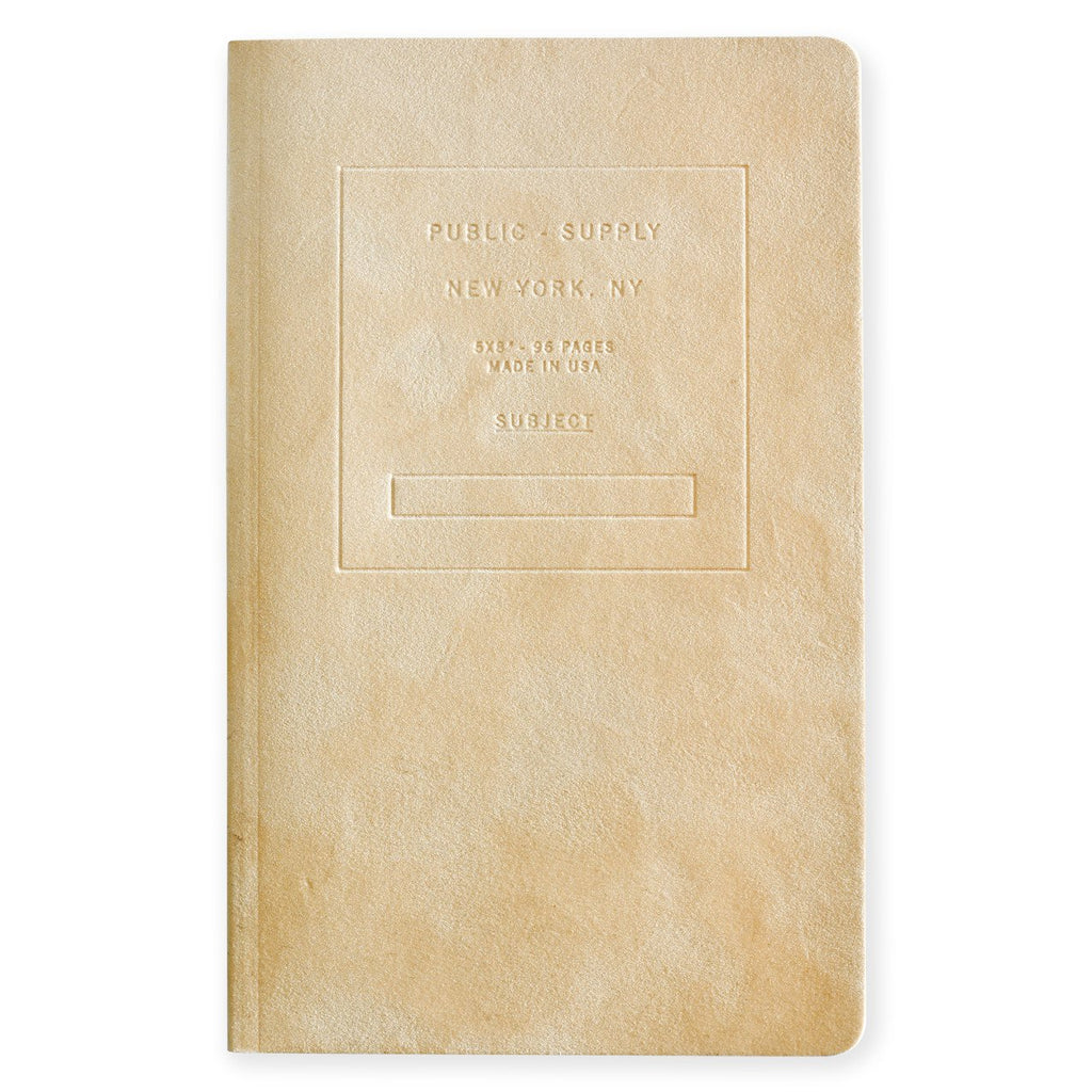 "5 x 8"" Velvet Embossed Cover Dot Grid or Ruled Notebook Putty"