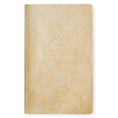 "5 x 8"" Velvet Debossed Cover Dot Grid or Ruled Notebook Putty Public - Supply  - GREER Chicago"