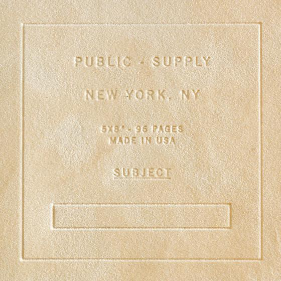 "Public - Supply 5 x 8"" Velvet Debossed Cover Dot Grid or Ruled Notebook Putty"