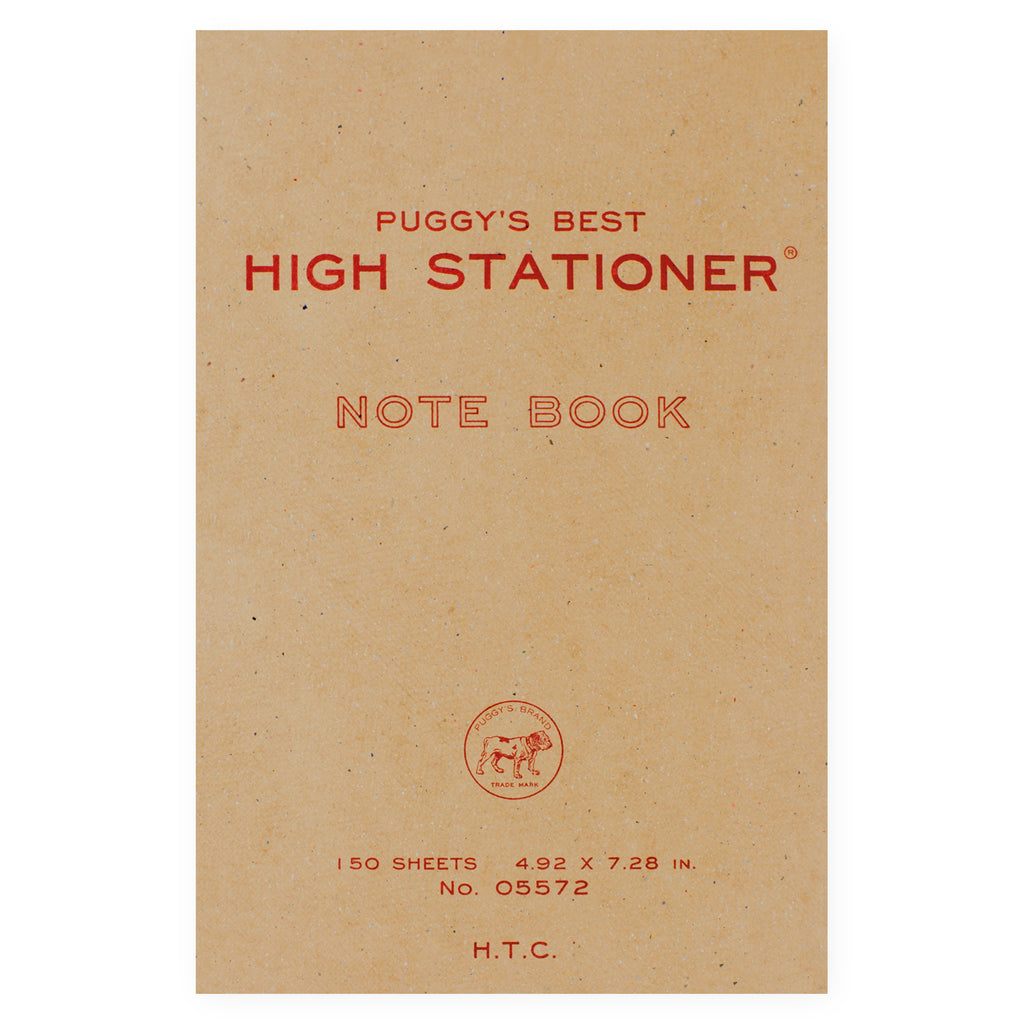 Hightide Puggy's Best Notebook | Large or Small Large