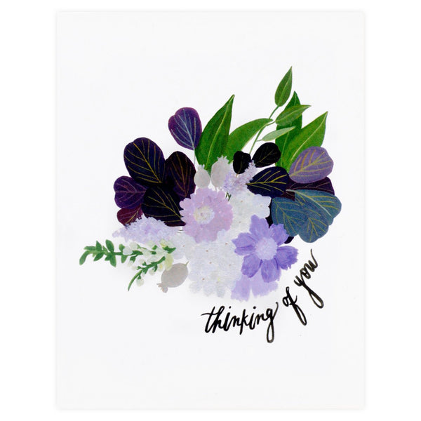 Purple Bouquet Thinking Of You Card By Our Heiday