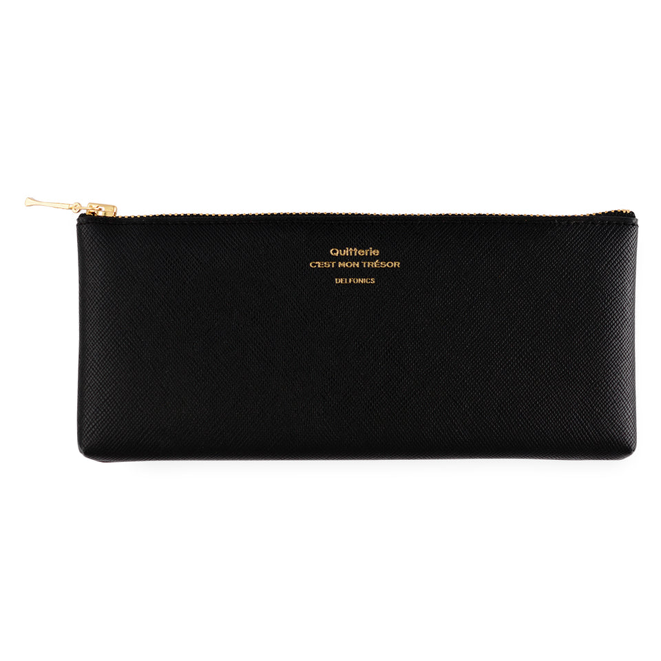 Delfonics Quitterie Flat Pen Pencil Case Black