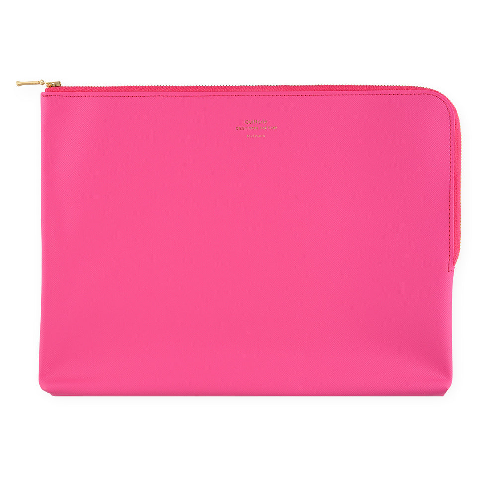 Delfonics Quitterie Large Zip Pouch Pink