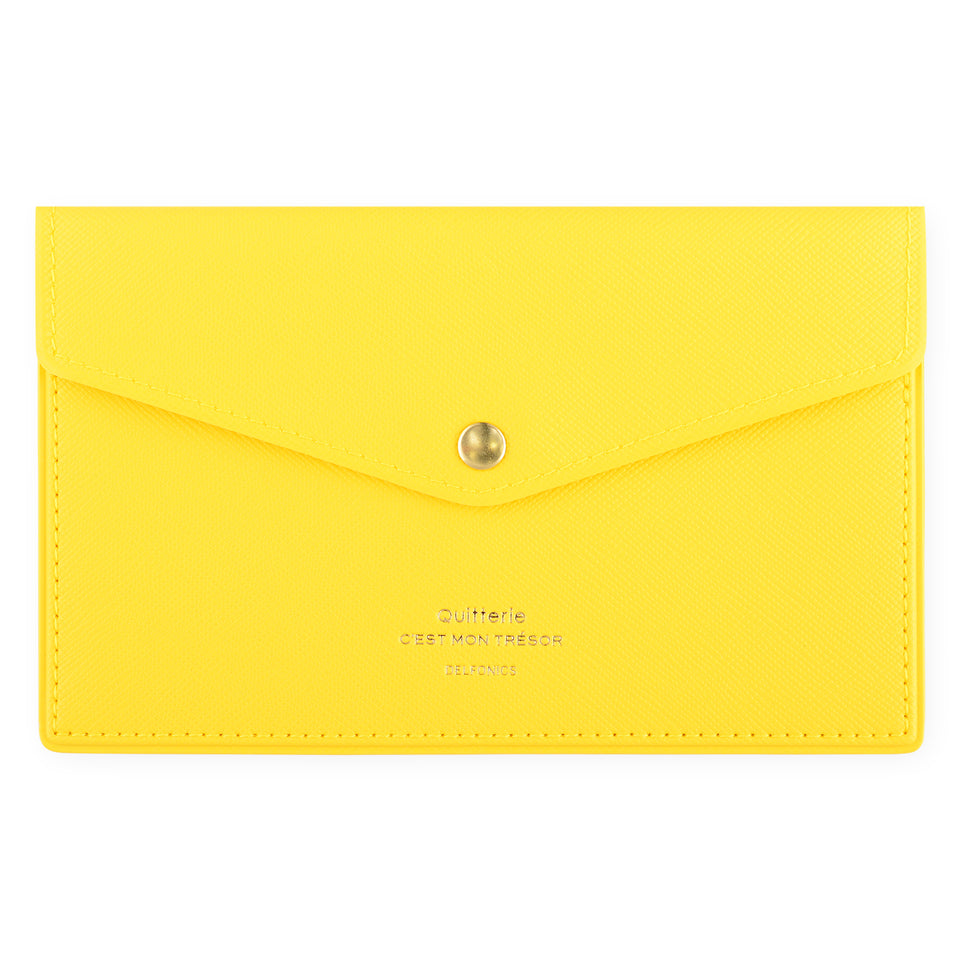 Delfonics Quitterie Multi-Card Case Pouch Yellow