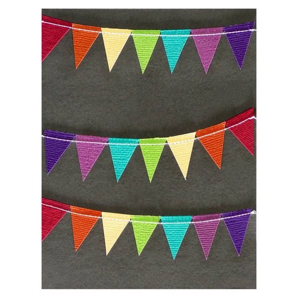 Rainbow Bunting Card By Rainy Day Colors