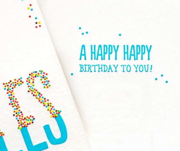 Rainbow Sprinkles Birthday Card - GREER Chicago Online Stationery