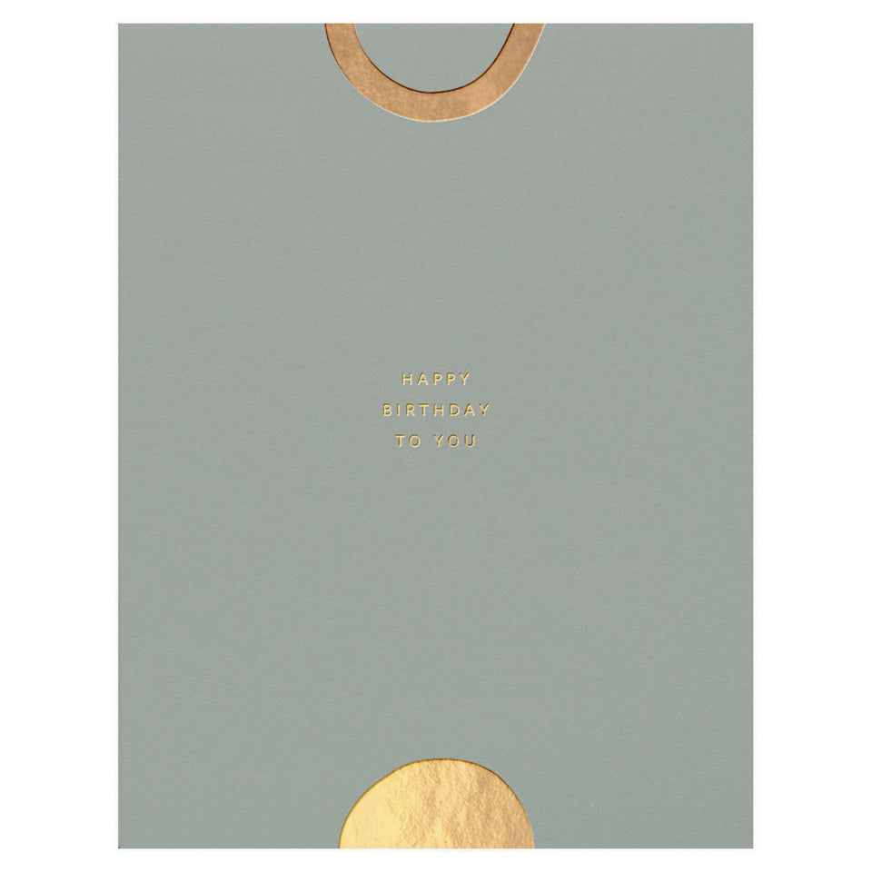 Ramona & Ruth Happy Birthday Gold Shapes Card
