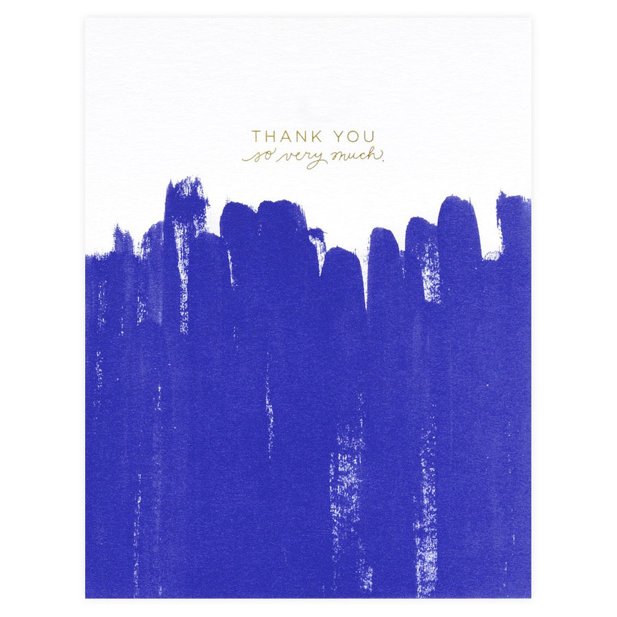 Ramona & Ruth Brush Folded Thank You Cards - GREER Chicago Online Stationery Shop