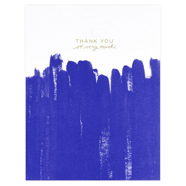Brush Folded Thank You Cards