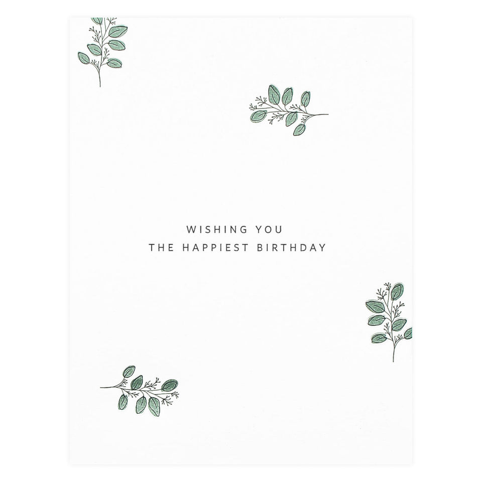 Ramona & Ruth Happy Birthday Eucalyptus Greeting Card
