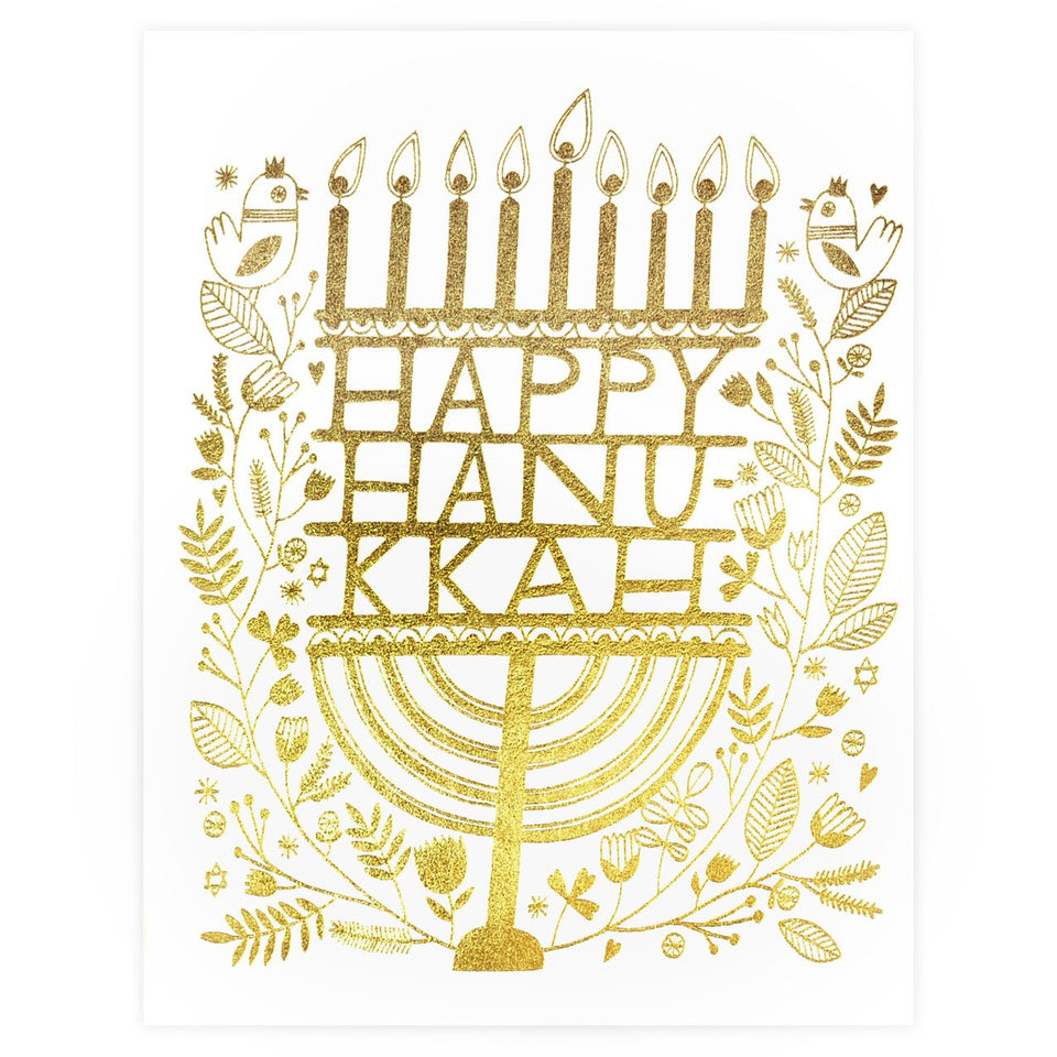 Red Cap Cards Hanukkah Candles Cards Boxed