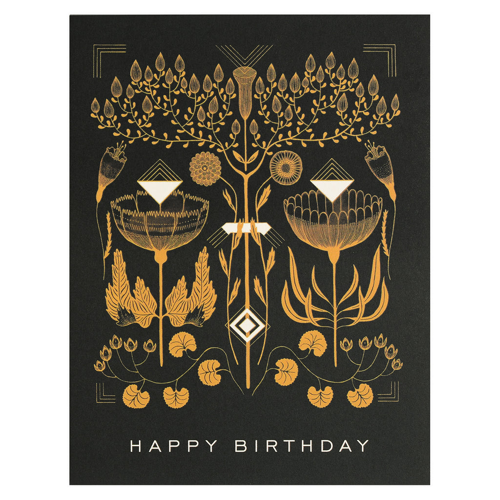 Red Cap Cards Amber Gold Birthday Card