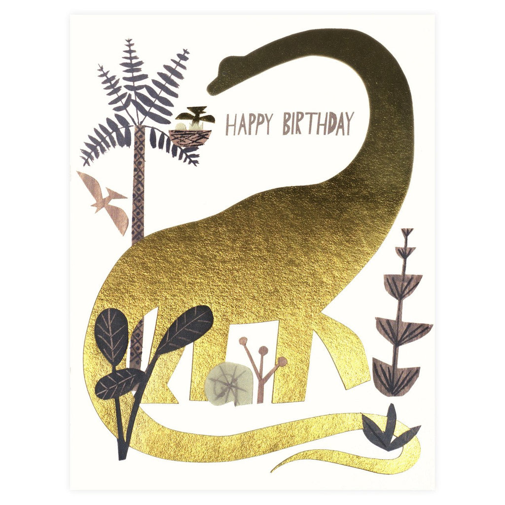 Dinosaur Birthday Card - GREER Chicago Online Stationery