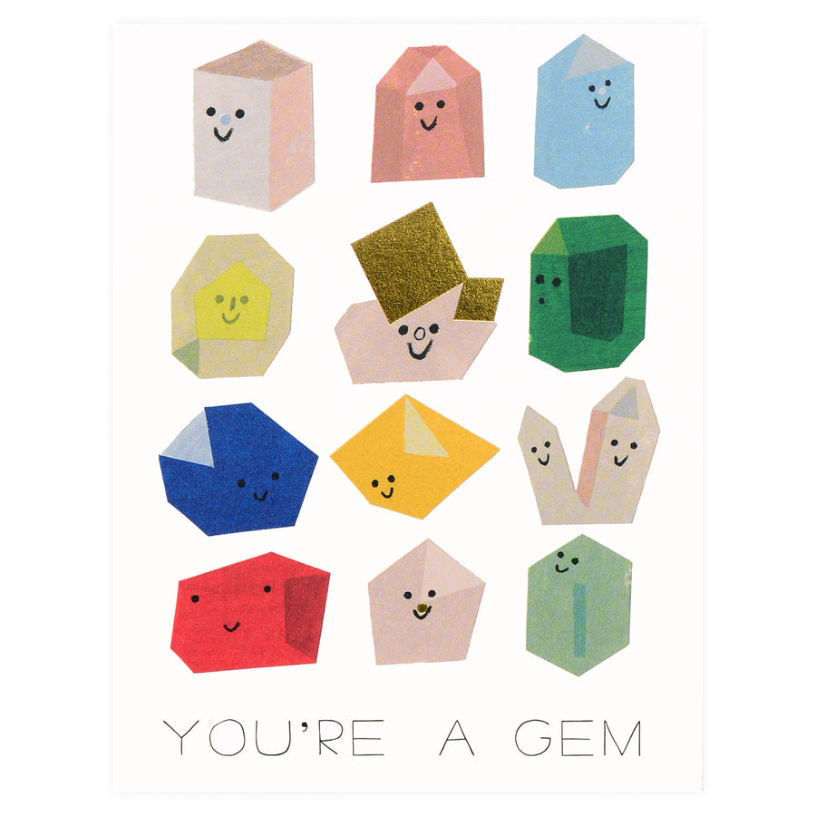 Red Cap Cards Gem Buddies Greeting Card