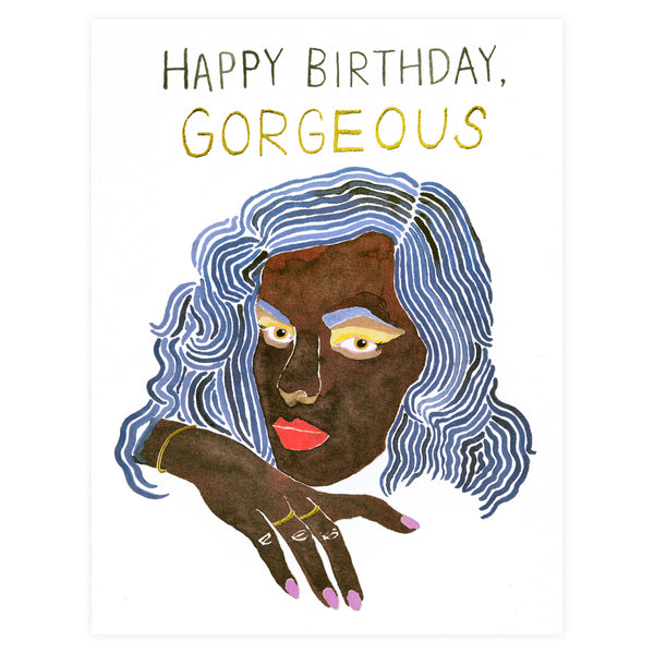 Red Cap Cards Gold Gorgeous Birthday Card - GREER Chicago Online Stationery Shop
