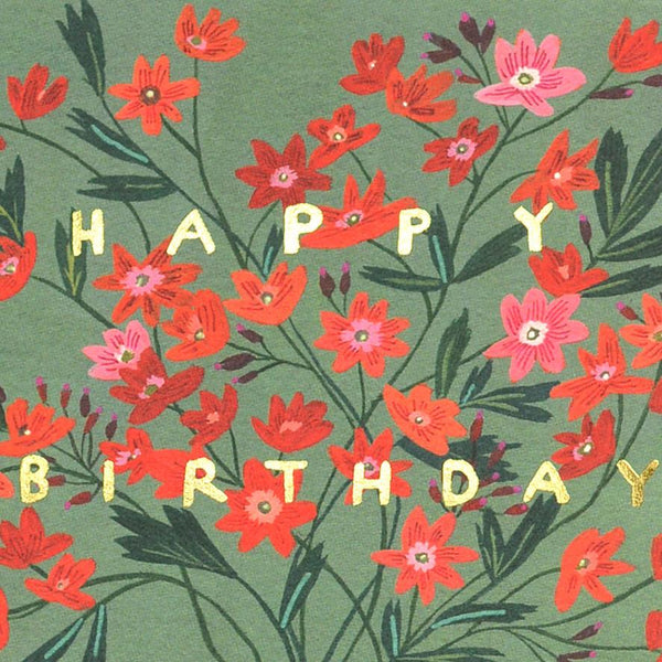 Golden Vase Birthday Card By Red Cap Cards - 1