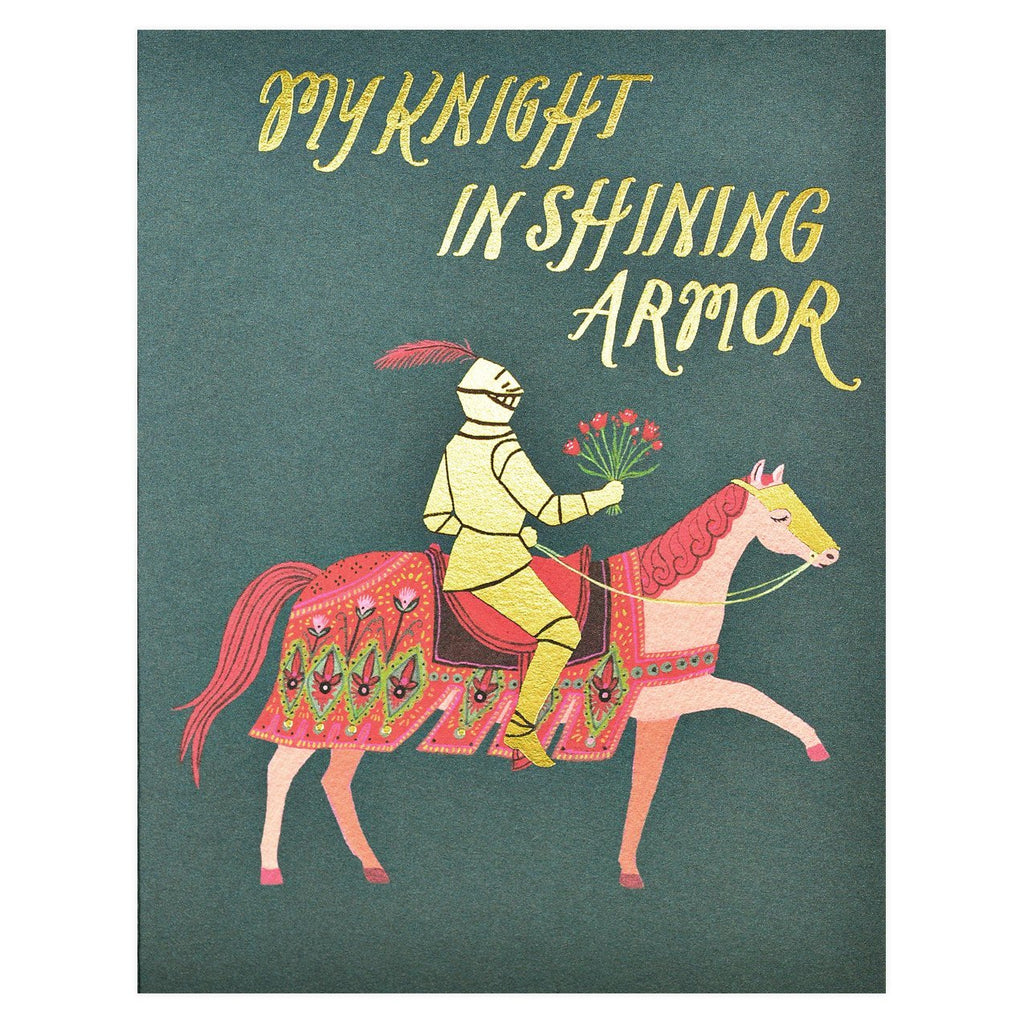 Knight in Shining Armor Greeting Card By Red Cap Cards - 1