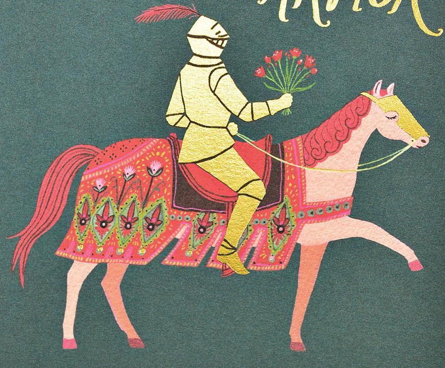 Knight in Shining Armor Greeting Card By Red Cap Cards - 2