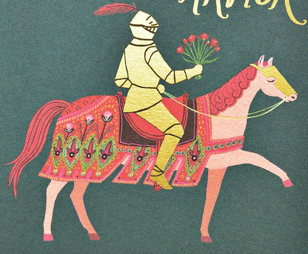Red Cap Cards Knight in Shining Armor Greeting Card - GREER Chicago Online Stationery Shop