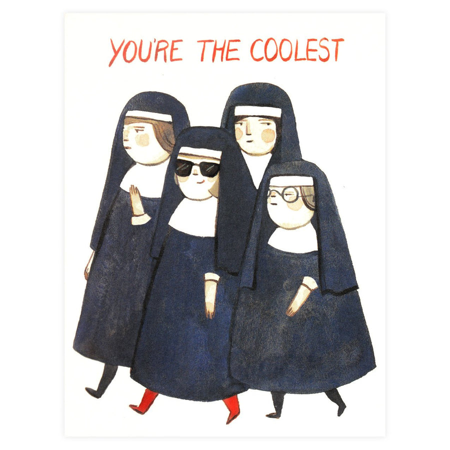 Red Cap Cards Nuns Greeting Card - GREER Chicago Online Stationery Shop