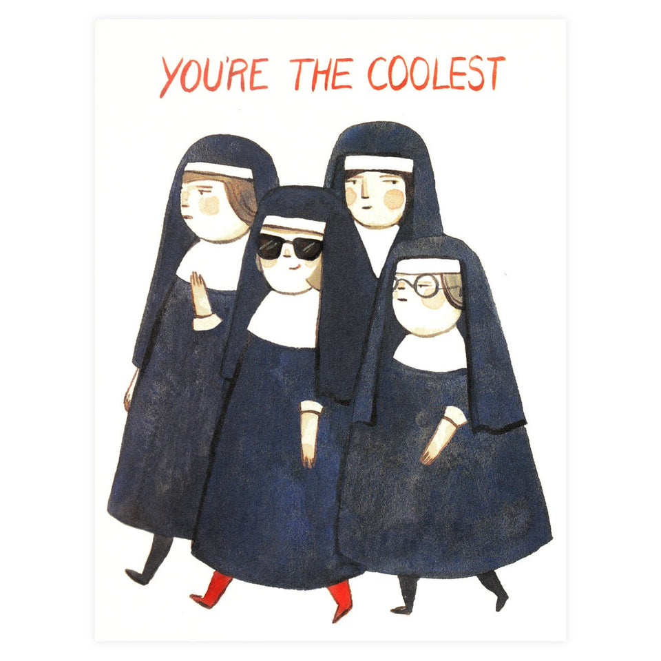 Red Cap Cards Nuns Greeting Card