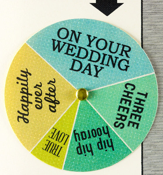 Congratulating You Wedding Wheel Greeting Card - GREER Chicago Online Stationery