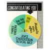 Regional Assembly of Text Congratulating You Wedding Wheel Greeting Card