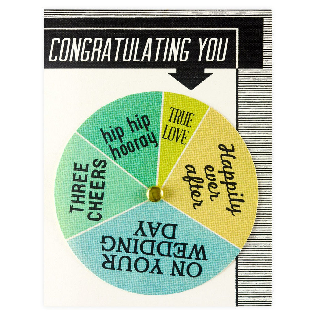 Regional Assembly of Text Congratulating You Wedding Wheel Greeting Card - GREER Chicago Online Stationery Shop