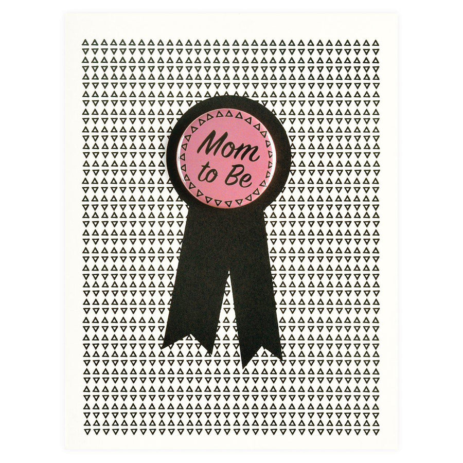 Regional Assembly of Text Mom to Be Button Pin Card - GREER Chicago Online Stationery Shop