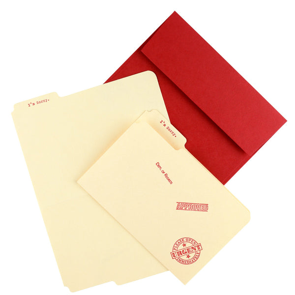 I'm Sorry Manila Folder Greeting Card By A. Favorite