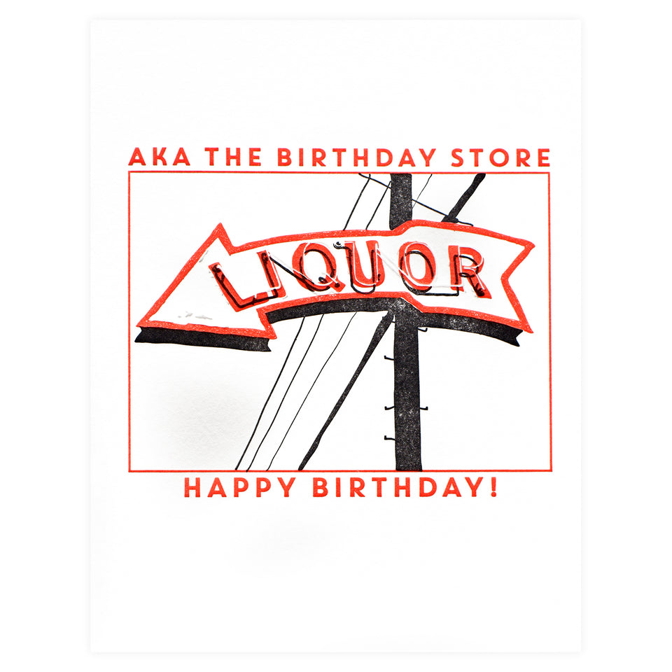 Richie Designs Liquor Birthday Greeting Card