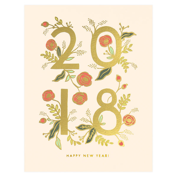 Rifle Paper Co. 2018 New Year Cards Boxed - GREER Chicago Online Stationery Shop