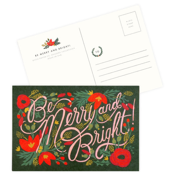 Be Merry And Bright Holiday Postcards By Rifle Paper Co. - 1