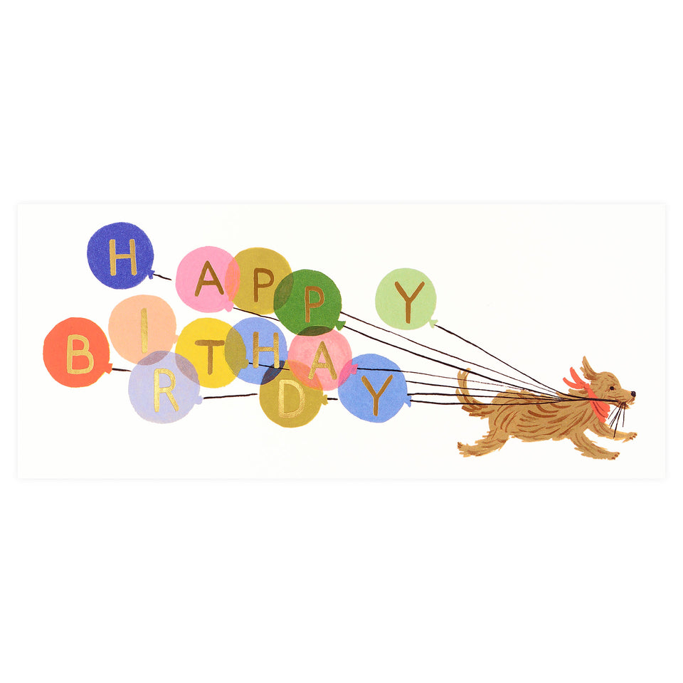 Rifle Paper Co. Birthday Balloon No. 10 Greeting Card