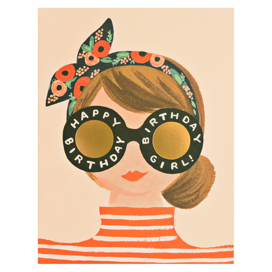 Rifle Paper Co. Birthday Girl Greeting Card