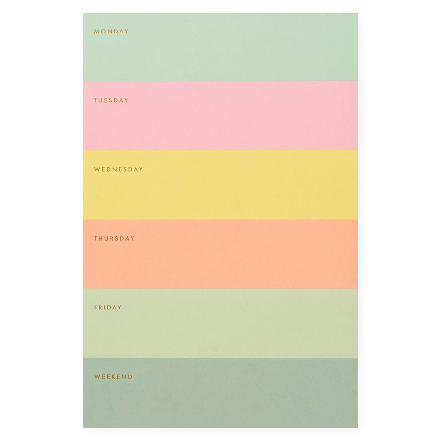 Rifle Paper Co. Color Block Weekly Memo Notepad - GREER Chicago Online Stationery Shop