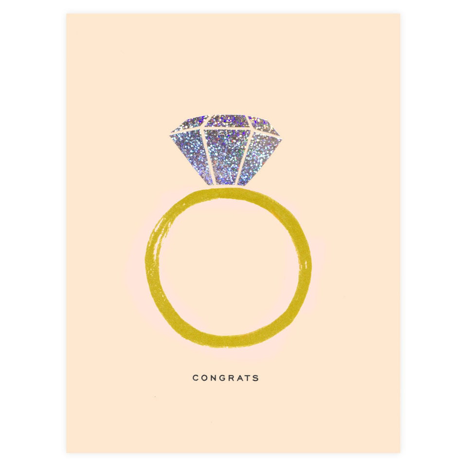 Rifle Paper Co. Congrats Engagement Card
