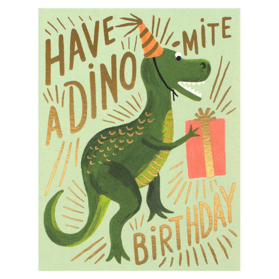 Rifle Paper Co. Dino-mite Birthday Card