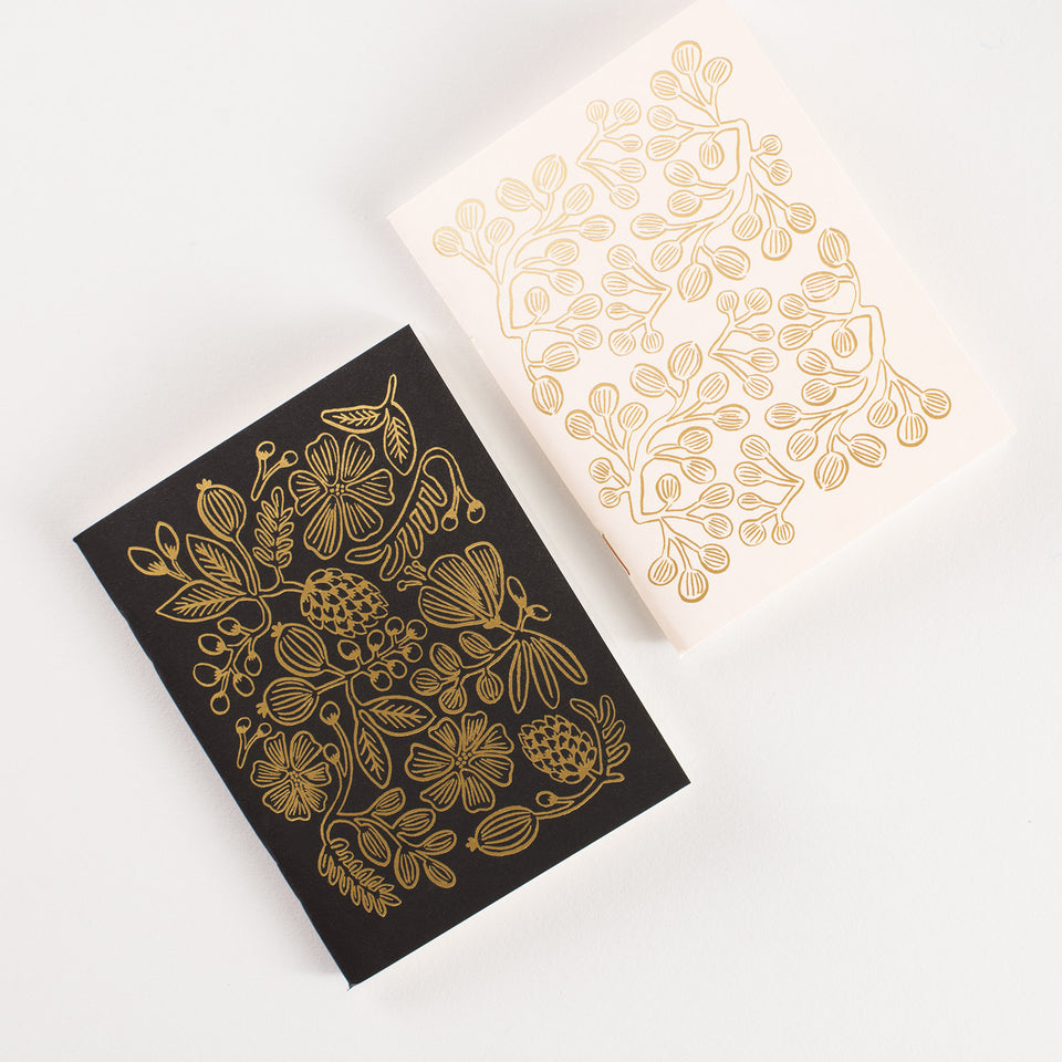 Rifle Paper Co. Gold Foil Pocket Notebooks