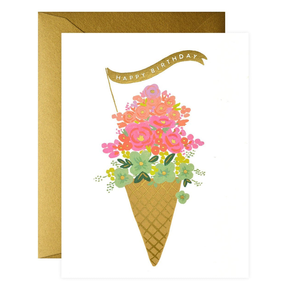 Ice Cream Birthday Card - GREER Chicago Online Stationery