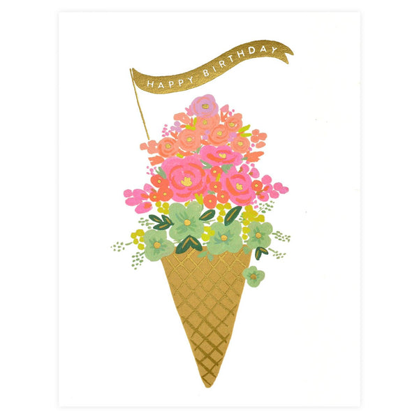 Rifle Paper Co. Ice Cream Birthday Card - GREER Chicago Online Stationery Shop
