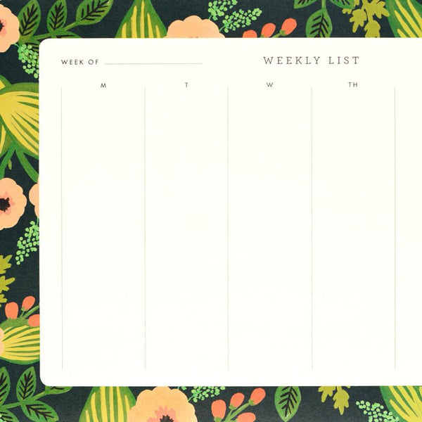 Jardin Weekly Desk Pad By Rifle Paper Co. - 1